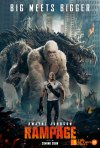 """rampage, poster, 80s,arcade games, video game, big meets bigger, the rock, dwayne johnson, dwayne """"the rock"""" johnson, poster, trailer, entertainment on tap, the action pixel"""
