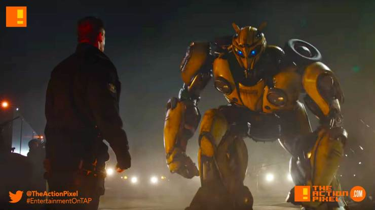 bumblebee, new trailer, transformers, paramount pictures, Bumblebee, Hailee Steinfeld ,John Cena, Travis Knight ,Bumblebee Movie, the action pixel, entertainment on tap, first look, image,bumblebee movie, bumblebee trailer,