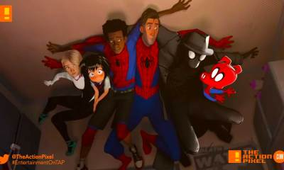 miles morales, spiderman, spider man, spider-man, sony, marvel, marvel comics, animated feature, animation, the action pixel, entertainment on tap,sony animation, marvel,into the spiderverse, spider-man: into the spider-verse,gwen stacey, poster, trailer #2 ,
