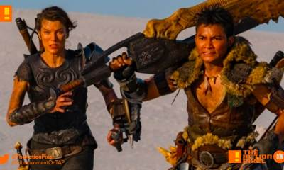 hunter monster, milla jovovich, tony jaa, screen gem,first look