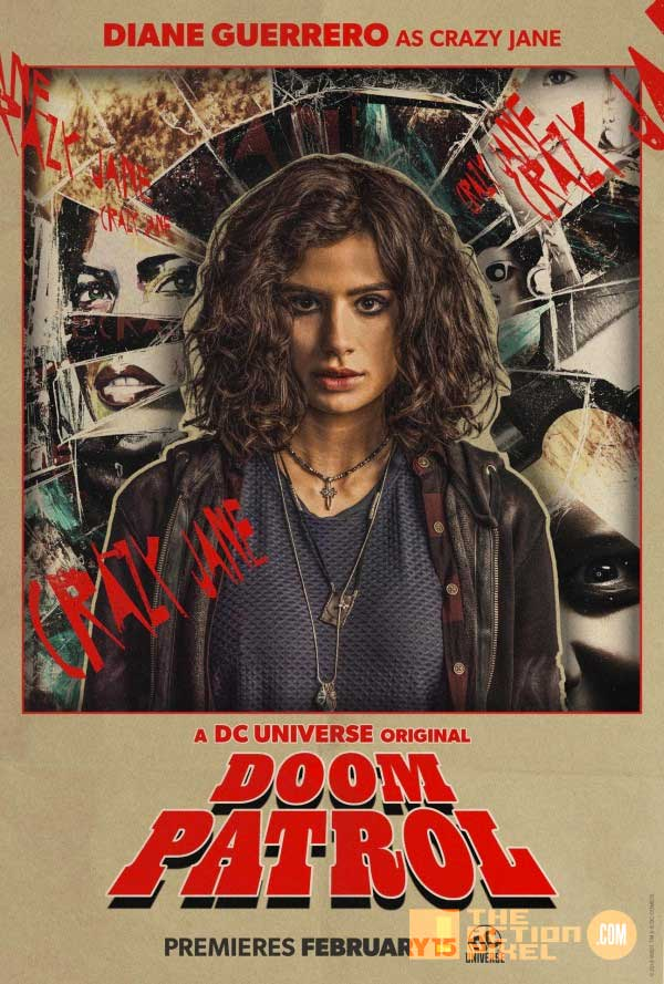 doom patrol,Dr. Niles Caulder, the chief, cyborg,Robotman, Negative Man, Elasti-Girl, crazy jane, the action pixel, entertainment on tap,