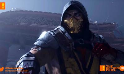 mk 11, scorpion, raiden, the game awards 2018, mortal kombat, mortal kombat 11, the action pixel, entertainment on tap,
