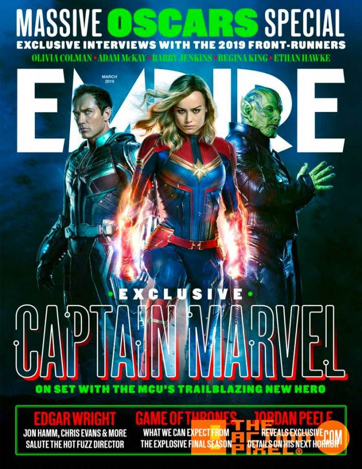 marvel, empire, jude law, carol danvers, empire magazine, skrull, brie larson, captain marvel, marvel studios, mar vell, entertainment on tap, the action pixel