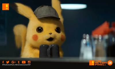 pokemon detective pikachu, pokémon,pokemon, pokémon detective pikachu, the action pixel, justice smith, entertainment on tap, warner bros. pictures, ryan reynolds,mewto, trailer #2 , pokemon detective pikachu trailer 2