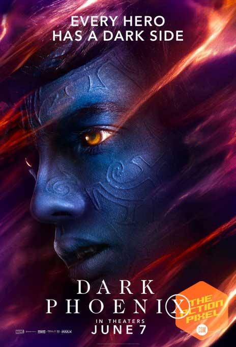 dark phoenix, sophie turner, x-men, xmen, the action pixel, entertainment on tap, phoenix, 20th century fox, jean grey, official trailer ,featured, character posters,quicksilver, Jean Gray, Professor X, Magneto, Mystique, Beast, Cyclops, Nightcrawler, Storm