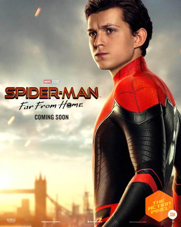 spiderman, zendaya, spider-man,spiderman far from home, spider-man: far from home, peter parker, mysterio, trailer, spider-man movie 2, character posters,spider-man far from home character posters, spiderman far from home posters,