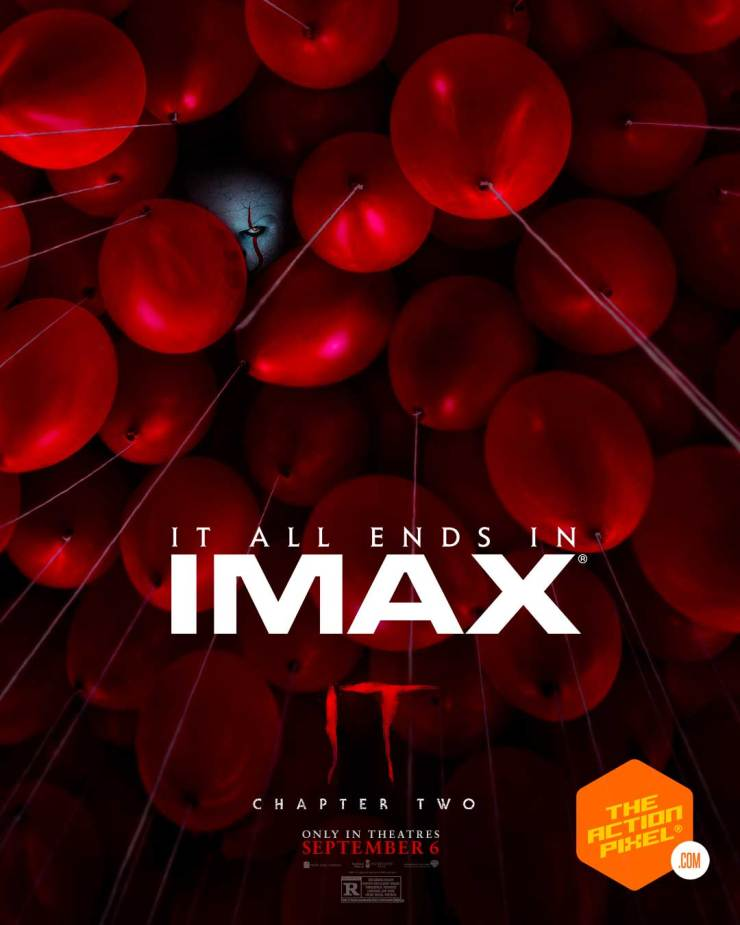 it poster, dolby, it chapter 2 poster, it chapter two poster, it chapter two, pennywise,the action pixel, entertainment on tap, it chapter two imax, it chapter two dolby, the action pixel, entertainment on tap, featured