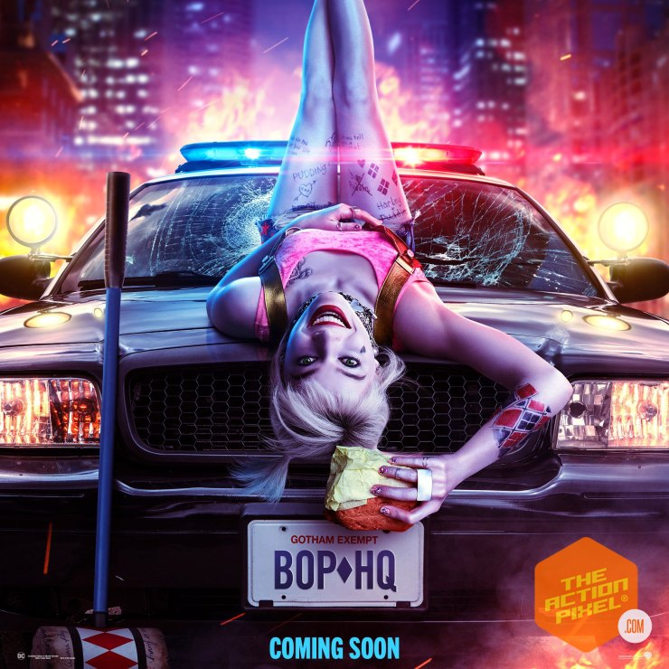 birds of prey poster, birds of prey, birds of prey movie, dc comics, wb pictures, warner bros pictures, harley quinn, margot robbie, the action pixel, entertainment on tap, featured,trailer, margot robbie harley quinn,