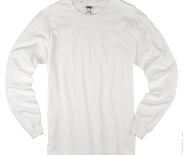 White Adult Long Sleeve T