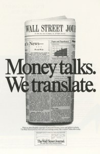 Wall Street Journal Ad by The Wall Street Journal