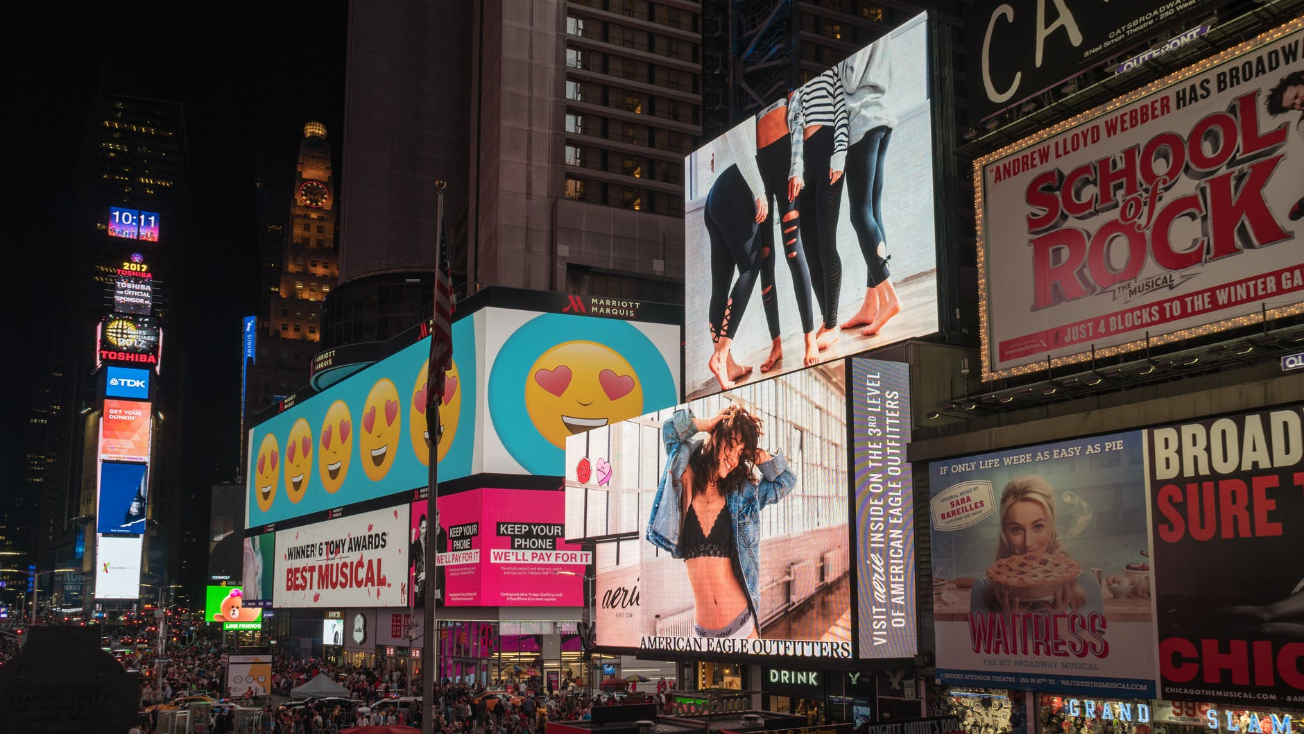 assorted billboards with creative advertising