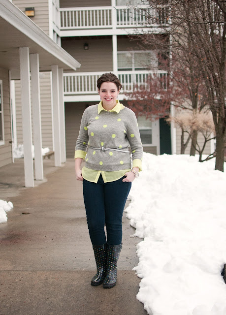 What I Wore: Okay, it's cool. The snow can leave now.