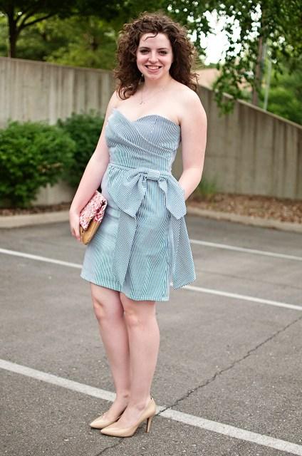 Seersucker Sweetheart Dress