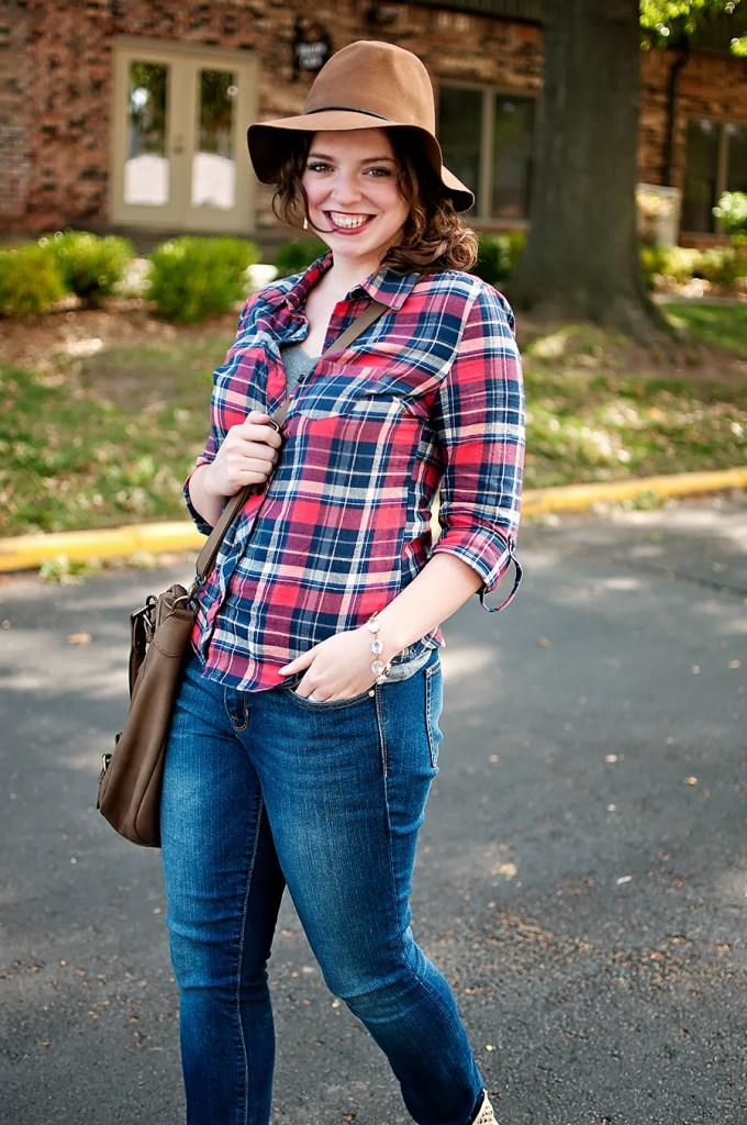 Flannel shirt with hat and booties