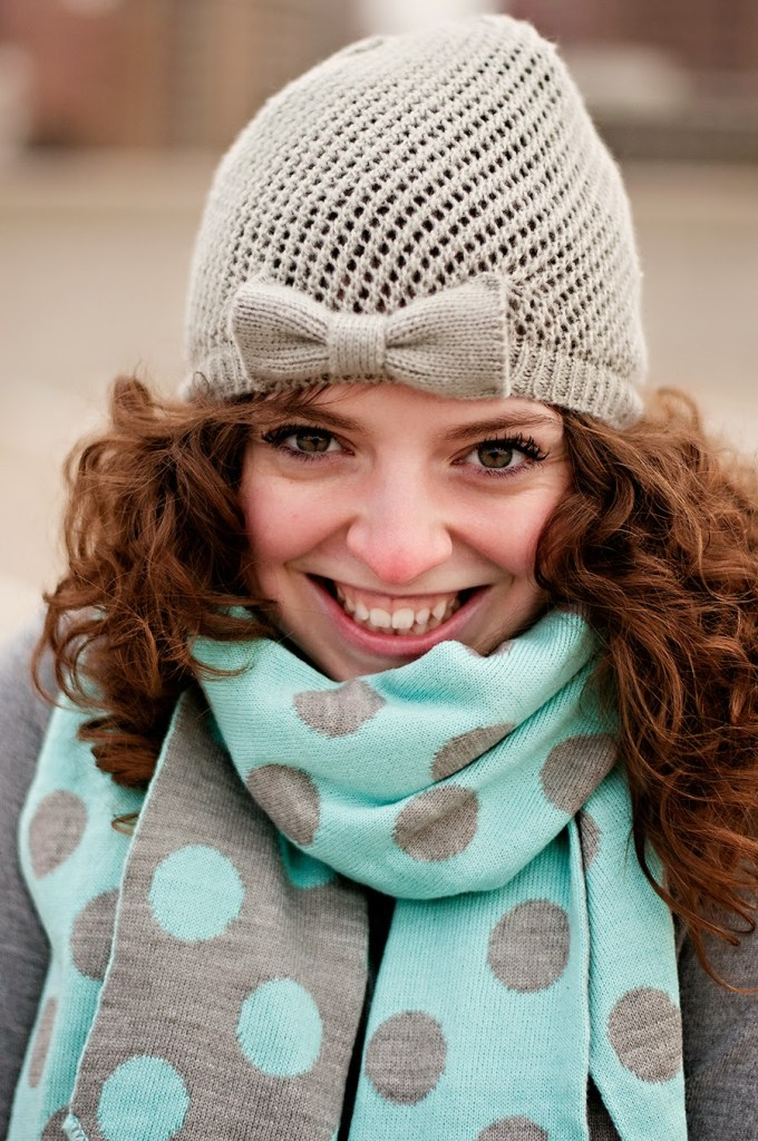 Polka Dot Scarf Winter