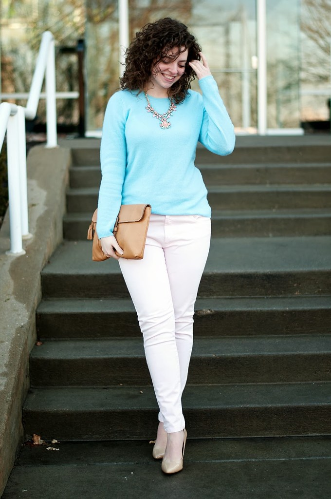 pink pastel and baby blue for spring
