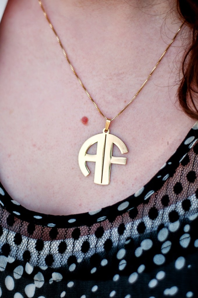 Gold Monogram Necklace