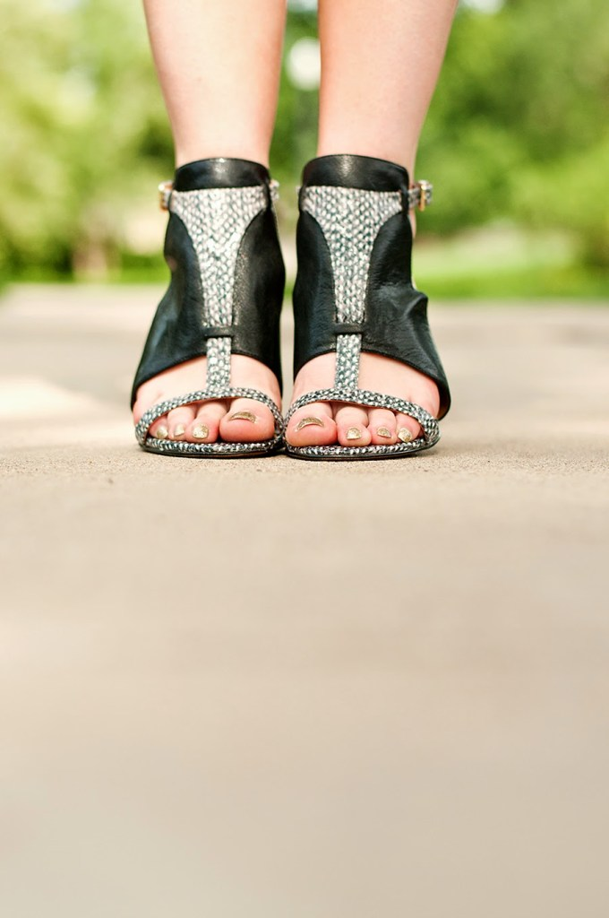 Nine West Leather Contrast Heels