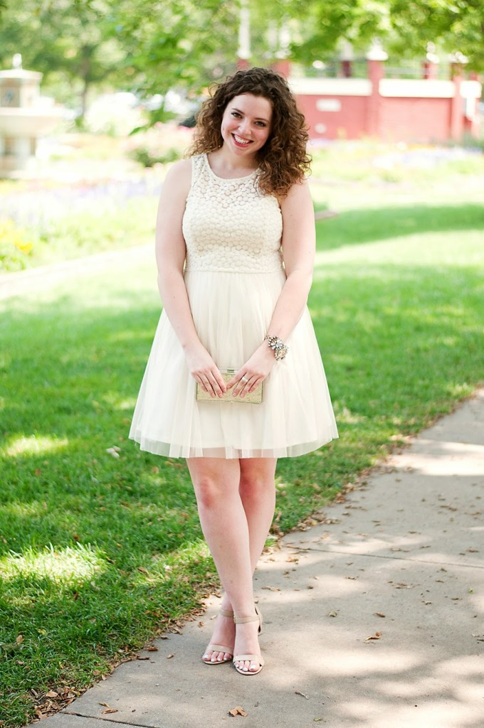 Cream Tulle Dress // The Adored Life