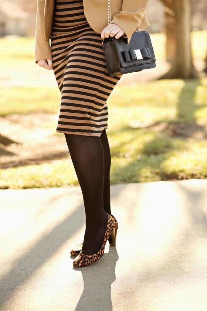 Bow Purse and Leopard Heels // theadoredlife.com