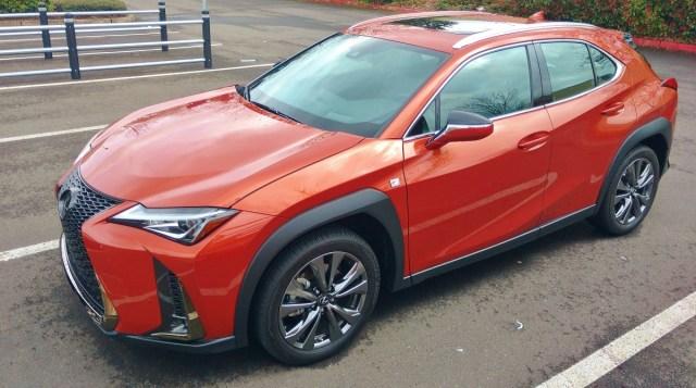 2019 UX 200 F Sport in Orange Pearl