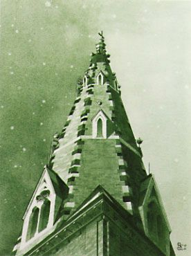 Belltower at Brimmer Street - © 2001 by Dianne S. P. Cermak
