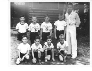 Jonathan Daniels and other campers at Camp Takodah, undated