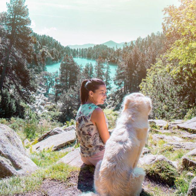 Lac des Bouillousses avec son chien