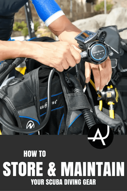 how to store scuba gear
