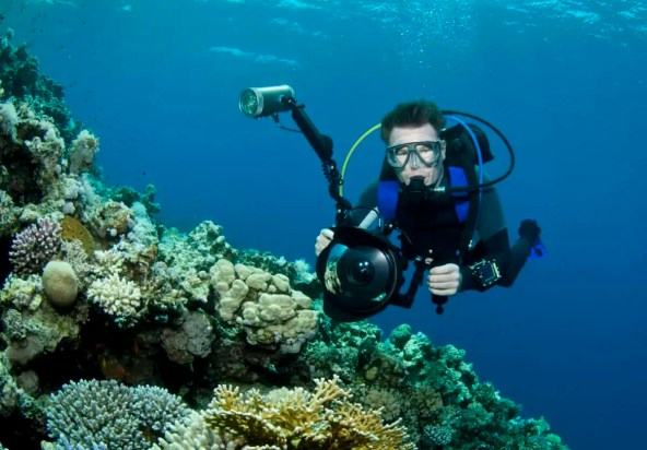 how to take diving pictures