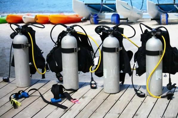 scuba gear storage