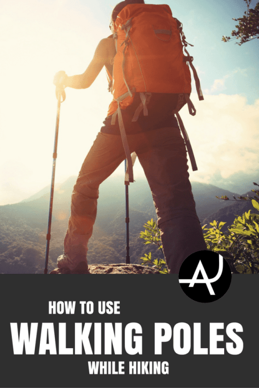 how to use hiking sticks