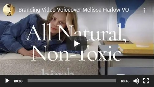 Branding Video Voiceover Melissa Harlow VO