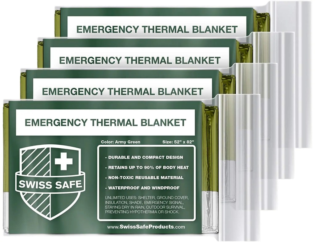 Swiss safe emergency thermal blanket The Adventure Travelers
