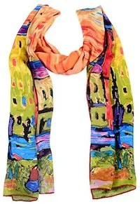 The Silk Scarf Shawl Art Is An Exquisite And Expressive 40th Birthday Gift Idea For Women This Line Of Scarves Shawls Are Covered With Van Gogh