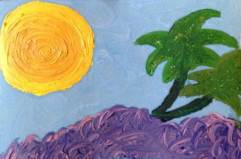 """""""Under the Palm Tree"""" by The Adventurous Artist"""