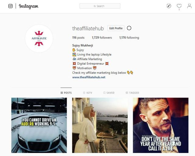 affiliatehub instagram - How to Make Your First Affiliate Sale in 12 Hours