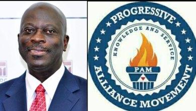 Dr. Kofi A. Boateng pictured next to PAM emblem