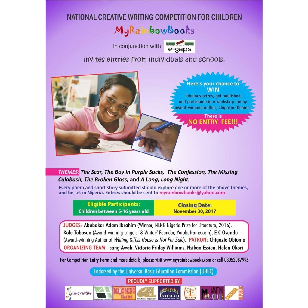 National Creative Writing Competition For Children