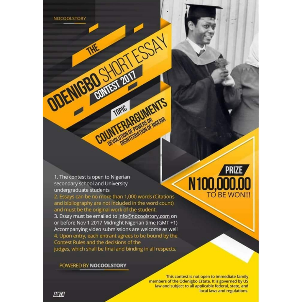 The Odenigbo Short Essay Contest 2017