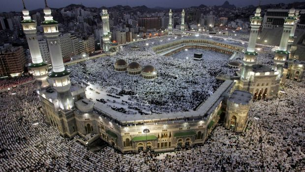 Muslim pilgrims pray at Mecca. By targeting Shiites, the Islamic State is proving its Sunni credentials.