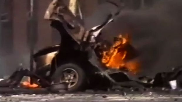 A scene from the Russell Street bombing in 1986, in which Constable Angela Taylor was killed. The government has ...
