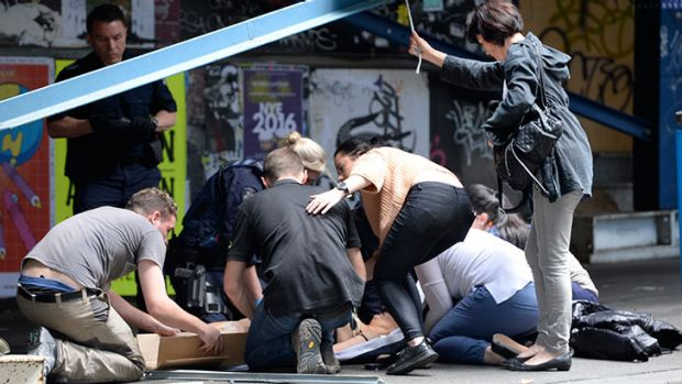 Image result for melbourne terrorist attack man drives down a footpath