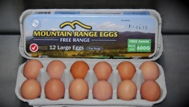 Darling Downs mountain range free range eggs were from hens permanently confined in barns.