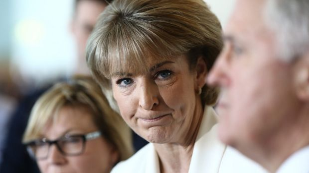 Michaelia Cash and Malcolm Turnbull.