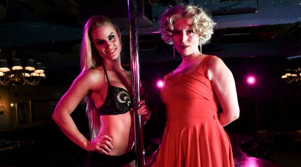 Pole dancer Jewel Stone, left,  believes that pole dancing is an art form, like opera, 'although it's not recognised as one'.