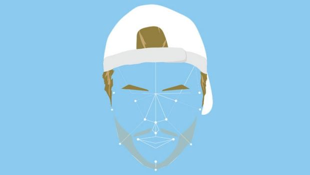 A rough mockup of MasterCard's facial recognition, using tennis champion Lleyton Hewitt.