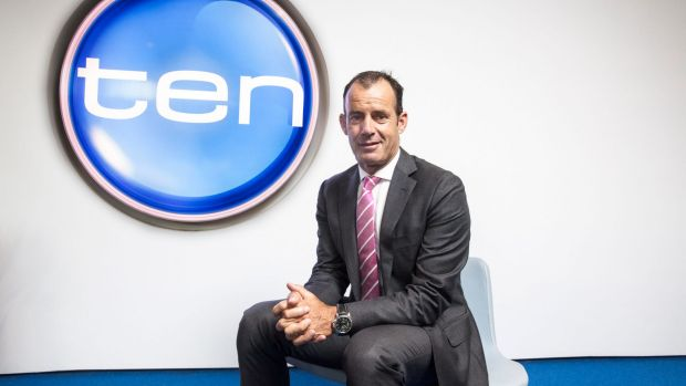 Network Ten chief executive Paul Anderson.The network's shares soared almost 35 per cent on Monday.