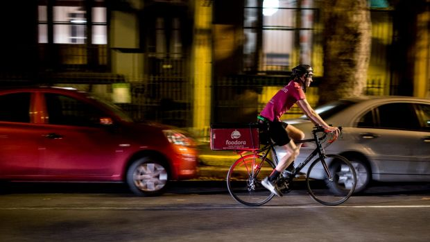 """Foodora Australia's chief executive Toon Gyssels said: """"We (pro-actively) work with authorities and bicycle communities ..."""