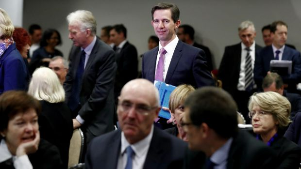 Minister for Education and Training Simon Birmingham presented his higher education plans to university leaders at a ...